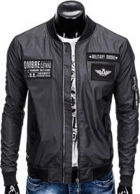 Ombre clothing kurtka męska przejściowa bomberka c350 - czarna