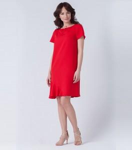 Sukienka butik-choice.pl midi w stylu casual z okrągłym dekoltem