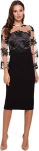 Sukienka Makover ołówkowa midi z okrągłym dekoltem