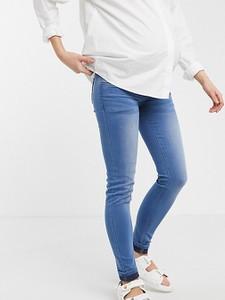 Mama Licious Mamalicious Maternity – Niebieskie jeansy o obcisłym kroju ze specjalnym pasem na brzuch