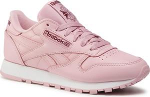 Różowe buty sportowe eobuwie.pl sznurowane z płaską podeszwą