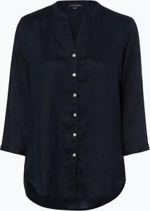 Niebieska bluzka Franco Callegari z lnu z długim rękawem