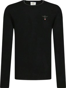 Czarny sweter Aeronautica Militare w stylu casual