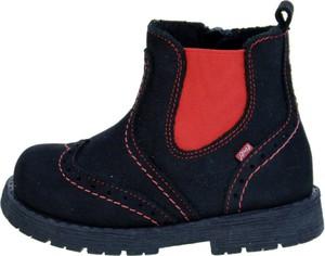Czarne buty dziecięce zimowe EMEL