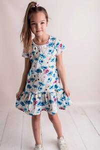 71dc563076 biała sukienka w niebieskie kwiaty - stylowo i modnie z Allani
