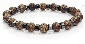 Em Men`s Accessories Bransoletka koraliki w kolorze brązowym EM 39