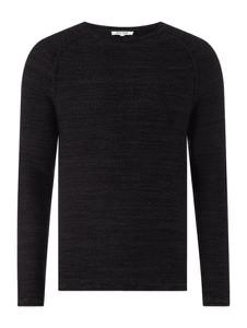 Czarny sweter Review z okrągłym dekoltem z bawełny