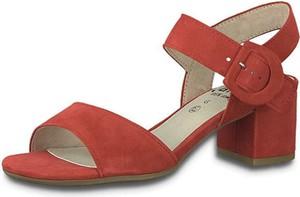 Czerwone sandały Webhiddenbrand na średnim obcasie w stylu casual na słupku