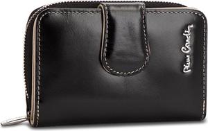 Czarny portfel Pierre Cardin ze skóry