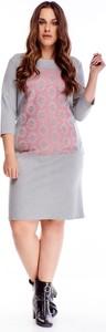 Sukienka TAGLESS mini z długim rękawem z okrągłym dekoltem