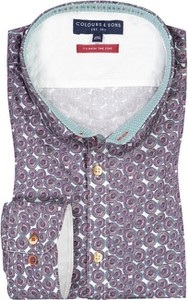 Koszula Colours & Sons z nadrukiem z bawełny z włoskim kołnierzykiem