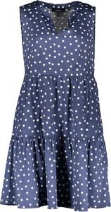 Niebieska sukienka Daniel Hechter mini bez rękawów trapezowa