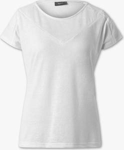 T-shirt YESSICA w stylu casual z krótkim rękawem z bawełny