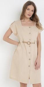 Sukienka born2be w stylu casual z krótkim rękawem z okrągłym dekoltem