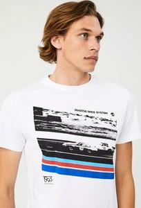 T-shirt Diverse z nadrukiem z krótkim rękawem
