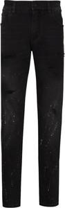 Czarne jeansy Dolce & Gabbana z bawełny