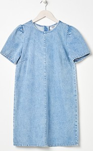 Sukienka Sinsay z krótkim rękawem z jeansu