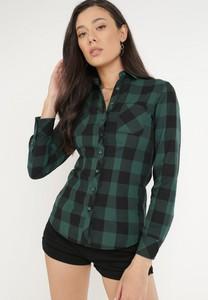 Zielona koszula born2be w stylu casual