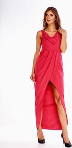 Sukienka N/A maxi asymetryczna bez rękawów