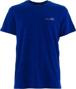 Niebieski t-shirt A.P.C. z bawełny