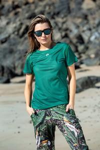 Turkusowy t-shirt Nessi Sportswear z okrągłym dekoltem z dresówki