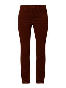 Brązowe spodnie MAC z bawełny w stylu klasycznym