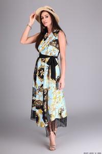 Sukienka Miarte maxi z jedwabiu z dekoltem w kształcie litery v