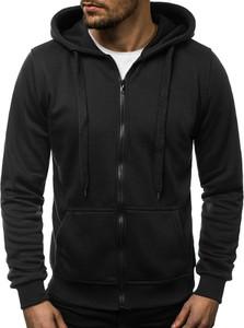 Czarna bluza ozonee.pl w młodzieżowym stylu z bawełny