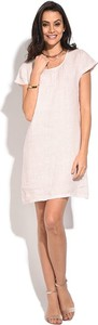 Sukienka Le Jardin Du Lin mini oversize z lnu