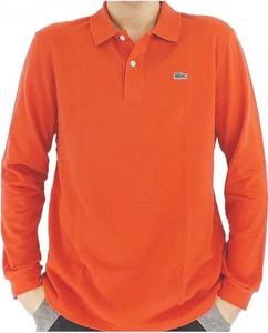 Pomarańczowa koszulka z długim rękawem Lacoste w stylu casual z długim rękawem