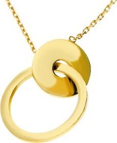 Lovrin Złoty naszyjnik 333 ring z kółeczkiem klanowka