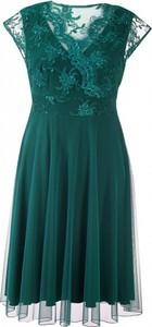 Zielona sukienka Sklep XL-ka z tiulu