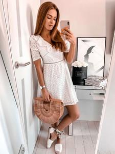 16d7ba834e sukienka biała mini - stylowo i modnie z Allani