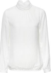 Biała bluzka bonprix bodyflirt z długim rękawem bez wzorów