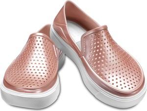 Różowe trampki dziecięce Crocs dla dziewczynek