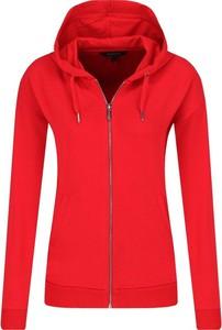 Czerwona bluza Armani Jeans krótka w stylu casual