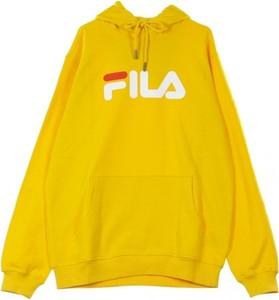 Żółta bluza Fila z bawełny w młodzieżowym stylu