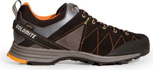 Czarne buty trekkingowe Dolomite sznurowane