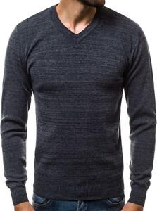Granatowy sweter Ozonee.pl w stylu casual