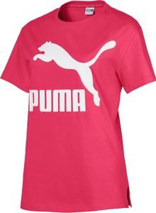 T-shirt Puma z krótkim rękawem z okrągłym dekoltem w sportowym stylu