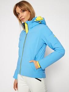 Niebieska kurtka Descente krótka w stylu casual