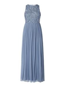 Niebieska sukienka Lace & Beads maxi bez rękawów
