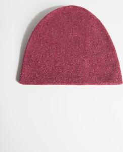 Różowa czapka Simple z wełny