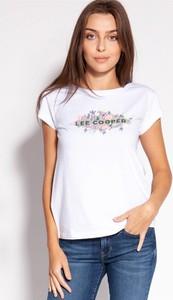 Bluzka Lee Cooper z krótkim rękawem z bawełny