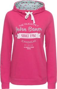 Różowa bluza bonprix john baner jeanswear w street stylu