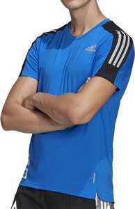 T-shirt Adidas w sportowym stylu z dzianiny z krótkim rękawem