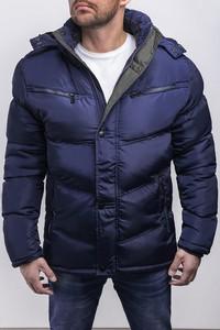 Granatowa kurtka Risardi w stylu casual krótka
