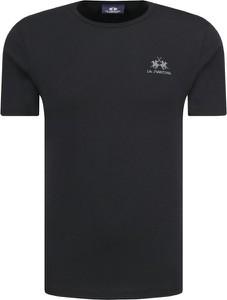Czarny t-shirt La Martina z krótkim rękawem
