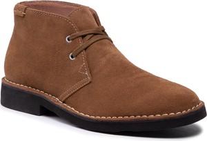 Brązowe buty zimowe POLO RALPH LAUREN sznurowane
