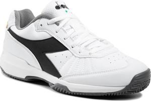 Buty sportowe Diadora ze skóry sznurowane